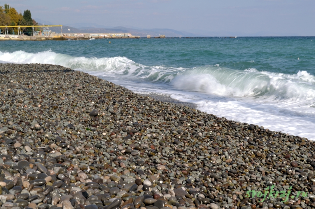 Алушта. Море волнуется