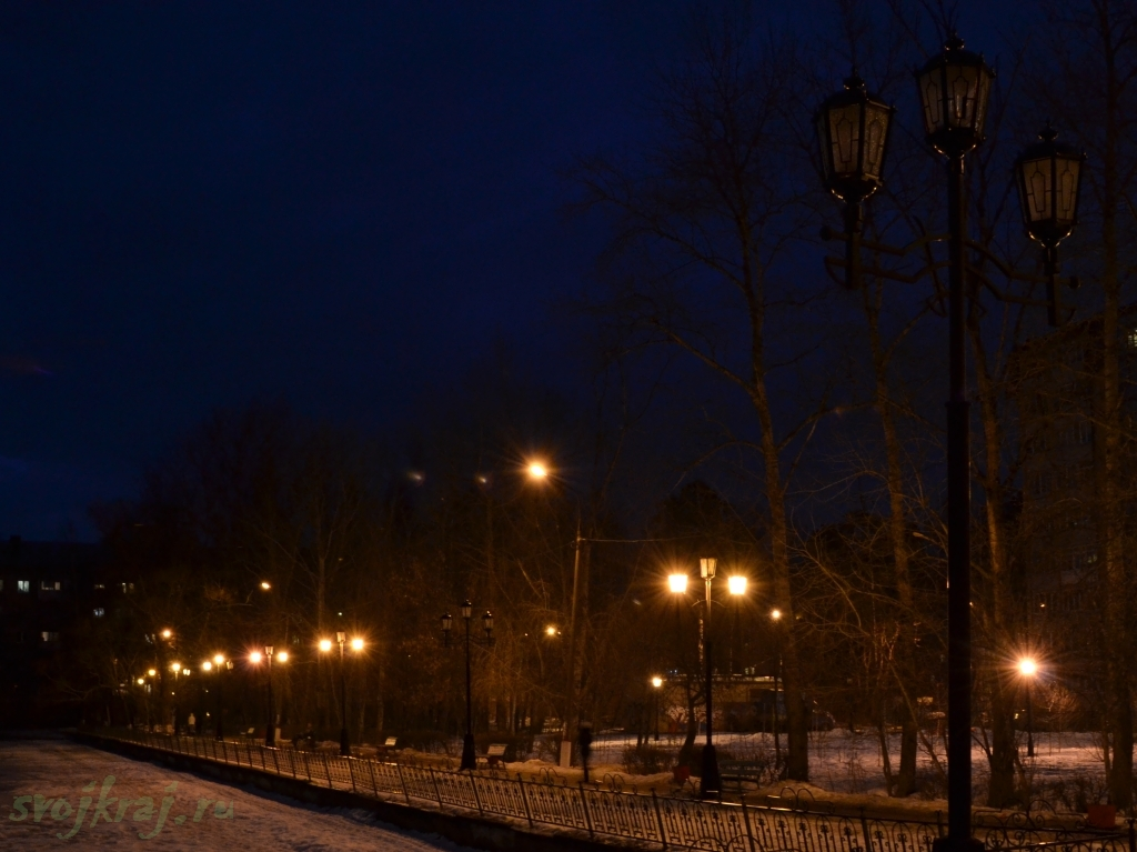 Ночь. Улица. Фонарь.