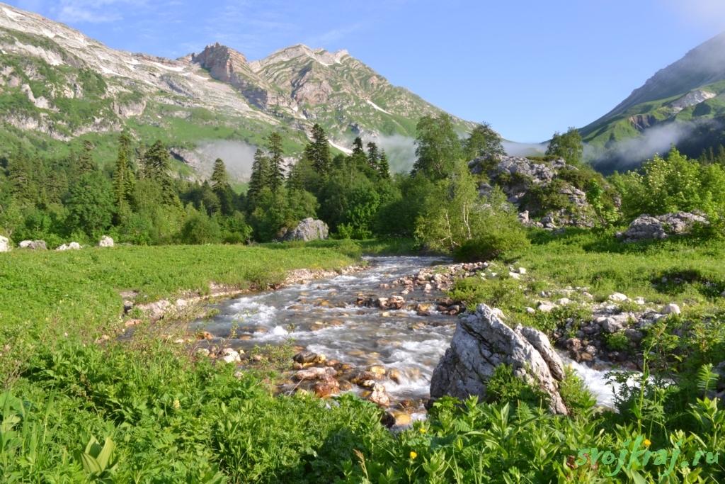 Кавказский заповедник. Идеальное утро в горах
