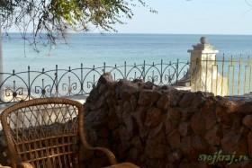 Крым. Кафе с видом на Черное море