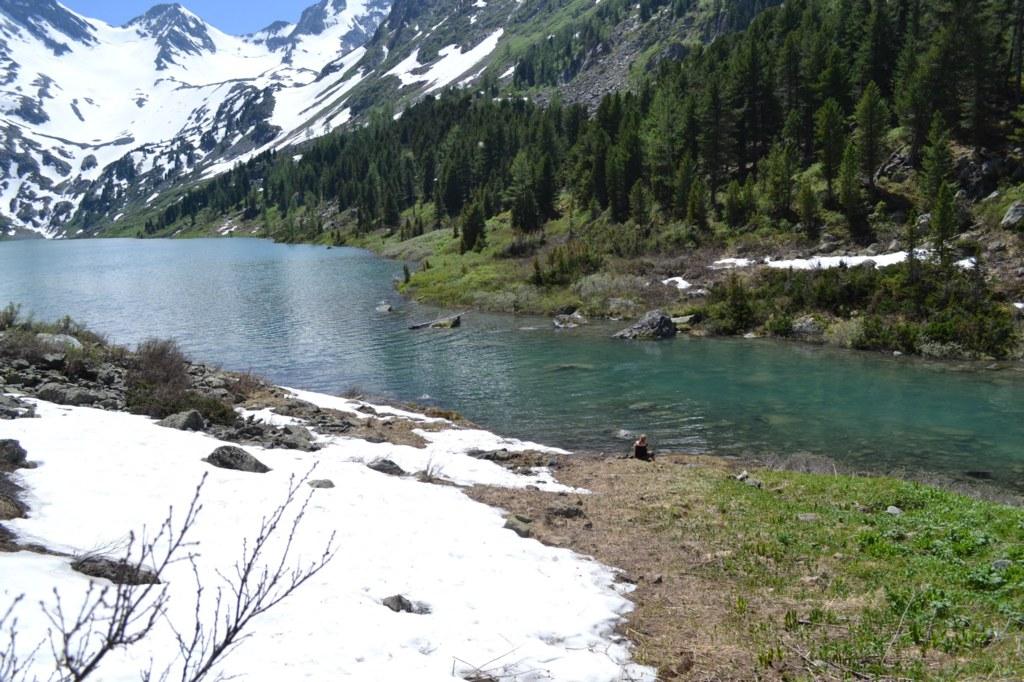 Алтай.  Поперечное озеро
