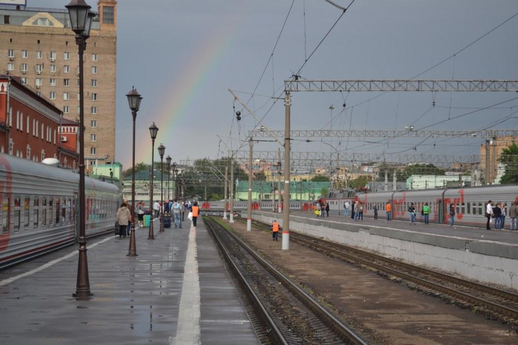 Казанский вокзал. Радуга